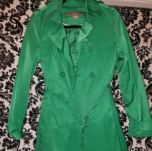 Kelly green trench coat!
